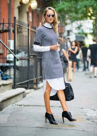 Dress tunic on a turtleneck