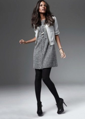 Dress tunic with cardigan