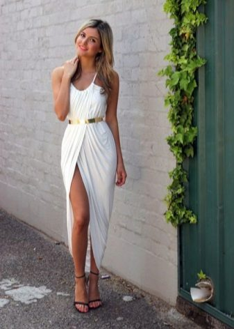 White long tulip dress