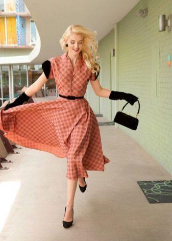 Retro stil flared kjole med pose