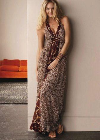 Lange zelfgemaakte jurk sundress
