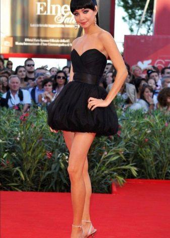 Black Bustier Short Dress