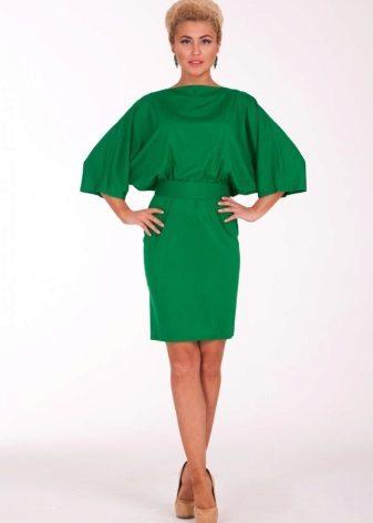 Groene jurk vleermuis middellange lengte