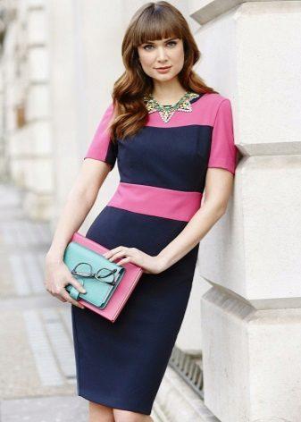 Tweekleurige blauwe en roze dress-case voor bedrijven