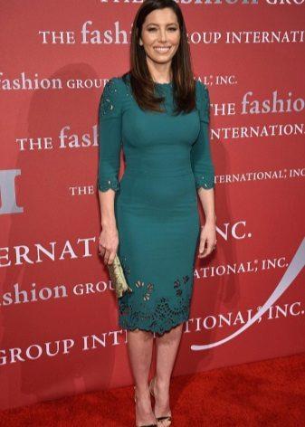 Grønn kjole for bedriftens