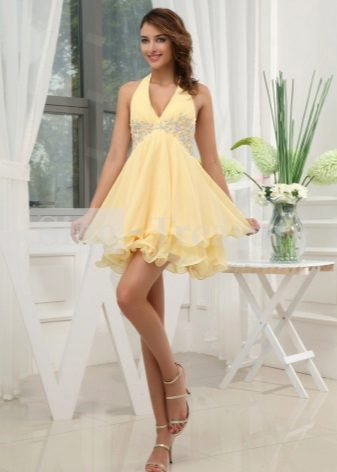 Two-layer summer dress with sun skirt