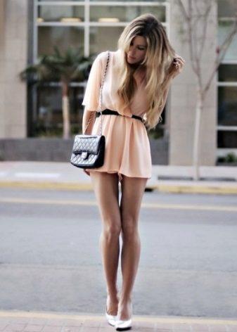 Vestido de chiffon de verão com saia de sol
