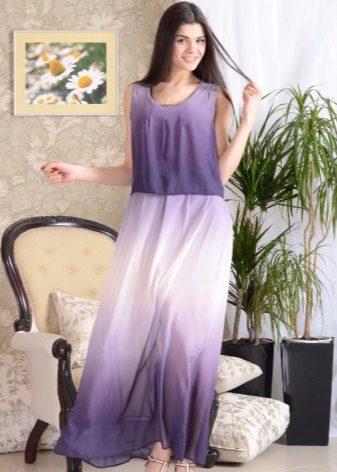Lang kjole, kjole gradientfarger