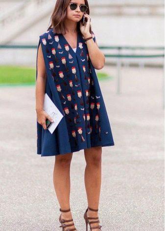 Trykt kjole kjole