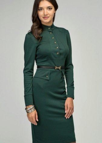 Keskisuuri sotilaallinen vihreä mekko