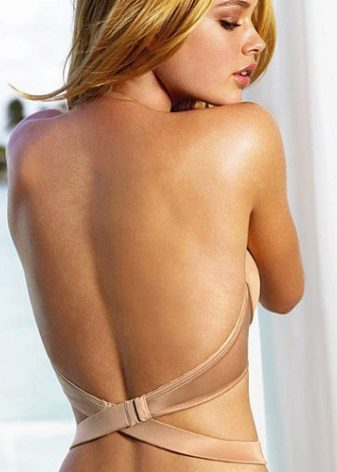 Bra under the dress with an open back
