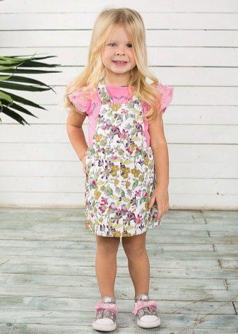 Vestido de verão para meninas de 4 anos