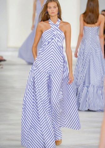 Fashionable striped dress season spring-summer 2016