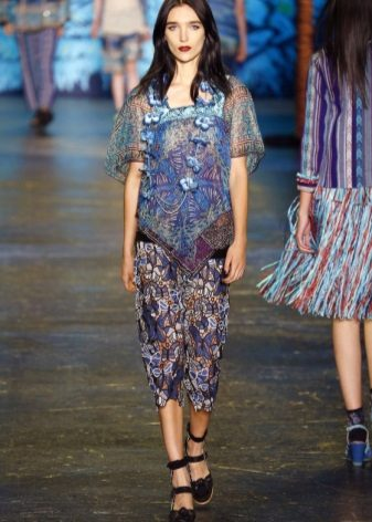 Fashionable tulle dress for spring-summer 2016