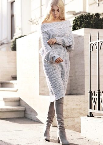 Módní svetr šaty na podzim-zima 2016
