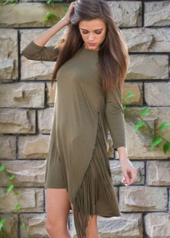 Fashionable dress for fall / winter 2016 with fringe