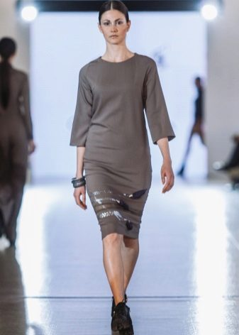 Fashionable knitted dress for fall-winter 2016