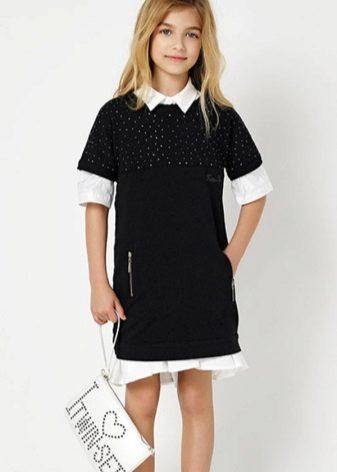 Vestido para meninas 13-14 anos de idade preto