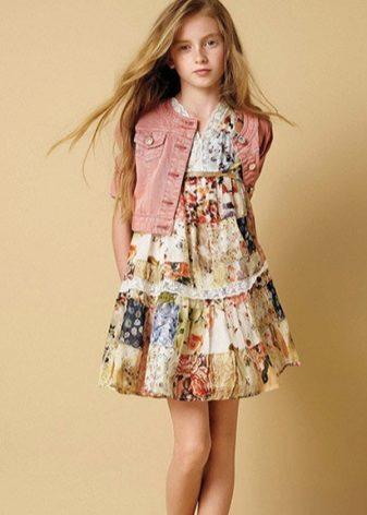 Vestido para meninas 13-14 anos de idade no verão