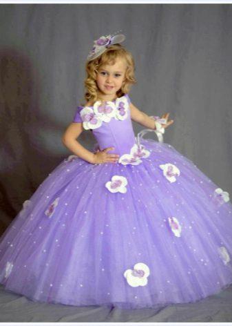 Vestido de formatura em roxo de jardim de infância