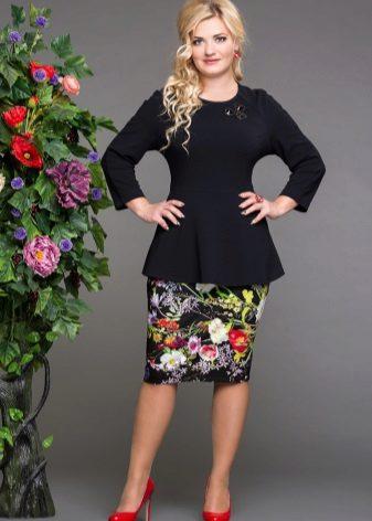 faldilla estampada floral per a dones obeses