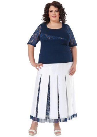 Faldilla plisada en forma d'una forma obesa per a dones obeses