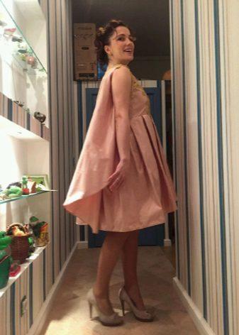 vestido de tafetá pêssego para baile