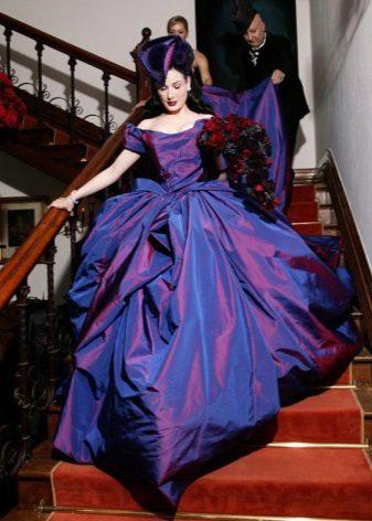 vestido de casamento de tafetá avant-garde