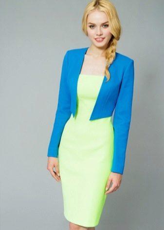 Salaattipuku sininen takki