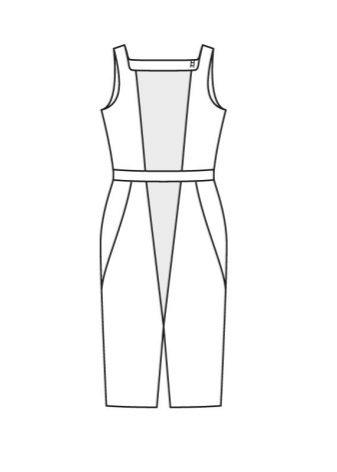 Colorblocking do-it-yourself design ruha ruha - műszaki rajz