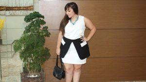 Pakaian bergaya untuk wanita gemuk yang kecil dan pendek.