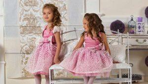 Trumpos pūkuotos suknelės mergaitėms