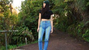 Jeans com cintura alta
