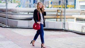 Jeans reta das mulheres