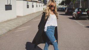 Naisten denim-housut