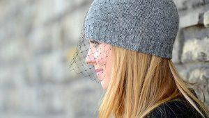 Chapéu com um véu