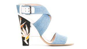 Denim-sandaalit