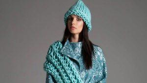 Chapéu e lenço: dois em um e como um conjunto