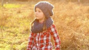 Rinkinys - šalikas ir kepurė mergaitėms