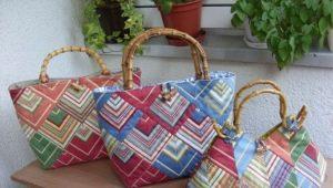 Handgemaakte patchwork tas