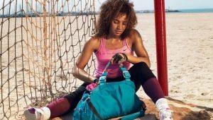 Sacos de desporto: padrões e descrição de costura