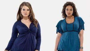 Vzorky halenky pro obézní ženy