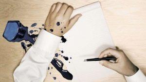Hoe kan ik de inkt van de pen vegen met kleding en meubels?