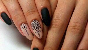 Ideeën en ontwerpopties opengewerkte manicure