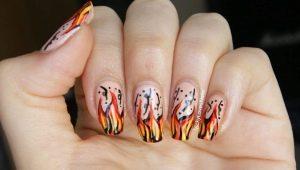 Hoe maak je een manicure met vuur?