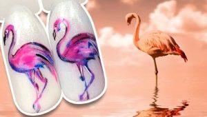 Hoe maak je een stijlvolle manicure met flamingo's?