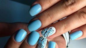 Manicure met vlinders en strass-steentjes: modetrends en ontwerpvoorbeelden