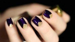 Hoe mooi om een manicure te maken met driehoeken?