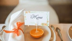 How to make and arrange cards for seating guests at the wedding do it yourself?