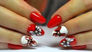 Manicure met een strik - ontwerpideeën en tips voor het maken van decor